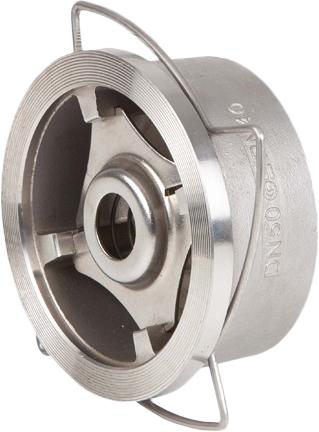Клапан обратный дисковый межфланцевый из нержавеющей стали Genebre 2415-06 PN40 DN25