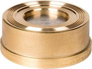 Клапан обратный пружинный латунный межфланцевый ZETKAMA 275H-032-C50 DN32 PN16