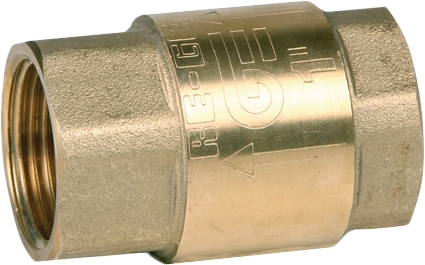 Клапан обратный пружинный резьбовой латунный GENEBRE 3121-06 PN25 DN25