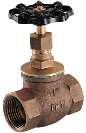 Клапан запорный сальниковый резьбовой бронзовый GENEBRE 3228-04 PN16 DN15