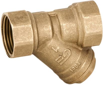 Фильтр сетчатый резьбовой латунный Genebre 3302-07 PN16 DN32