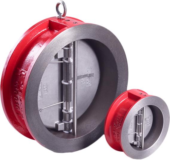 Клапан обратный двустворчатый чугунный межфланцевый Rushwork 400-065-16 DN65 PN16
