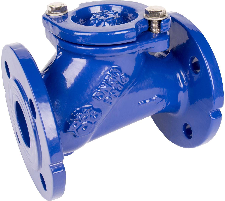 Клапан обратный шаровый чугунный фланцевый Rushwork 405-040-16 DN40 PN16