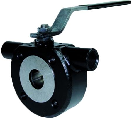 Кран шаровой межфланцевый с системой обогрева из углеродистой стали Genebre 2115 PN16 DN80
