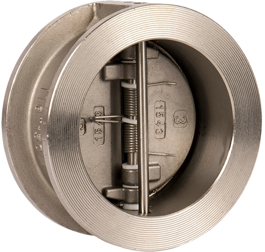 Клапан обратный двухстворчатый межфланцевый из нержавеющей стали GENEBRE 2402-20 PN25 DN300
