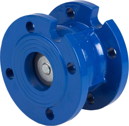Клапан обратный дисковый фланцевый чугунный Genebre 2450-09 PN16 DN50