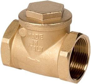 Клапан обратный поворотный резьбовой латунный GENEBRE 3180-10 PN8 DN65
