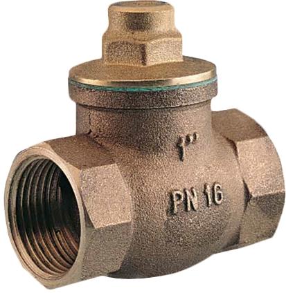 Клапан обратный резьбовой бронзовый GENEBRE 3187-04 PN16 DN15