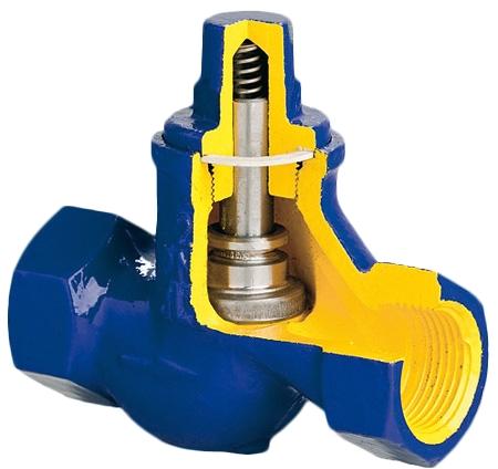 Клапан обратный подъемный чугунный резьбовой резьбовой 277A-015-C-31 PN16 DN15