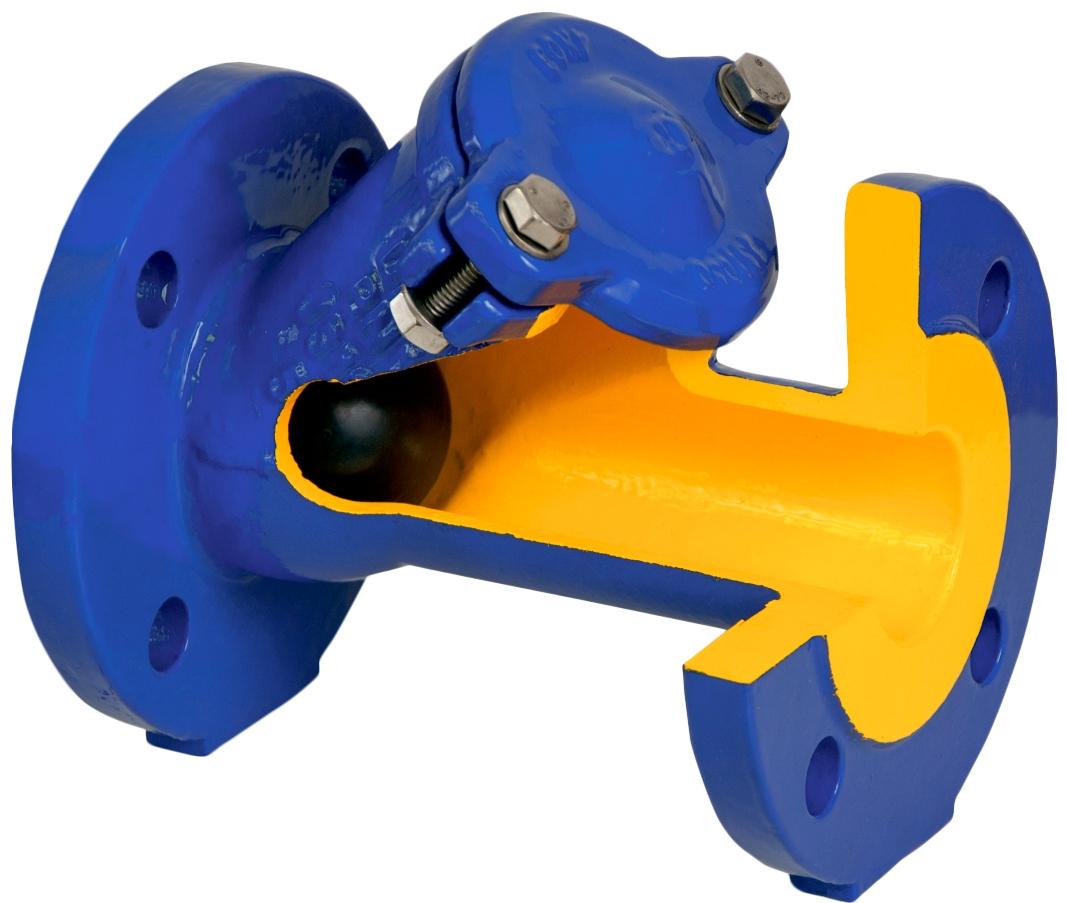 Клапан обратный шаровой чугунный фланцевый ZETKAMA 400D-400-B-55 PN10 DN400