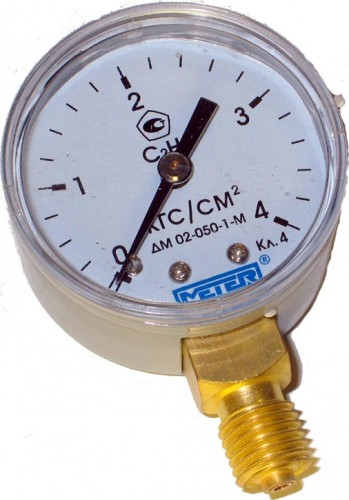 Манометр ацетиленовый Россия  4,0МПа