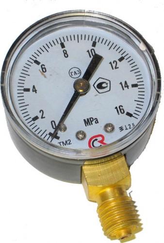 Манометр газовый Россия 16МПа с поверкой