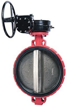 Затвор дисковый поворотный чугунный межфланцевый Rushwork 200-500-16 DN500 PN16