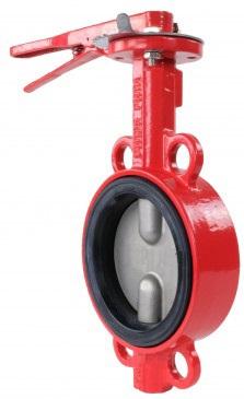 Затвор дисковый поворотный чугунный межфланцевый Rushwork 201-150-16 DN150 PN16