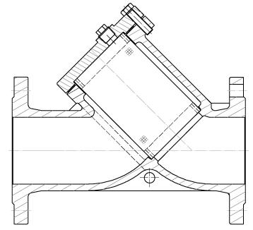 Фильтр сетчатый чугунный фланцевый Rushwork 600-050-16/1 DN50 PN16 со сливной пробкой