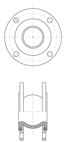 Компенсатор антивибрационный фланцевый Rushwork 500-150-10-EPDM-FF DN150 PN10