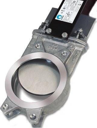 Задвижка шиберная чугунная межфланцевая СМО A-01-R(N)-E-DN900-PN2