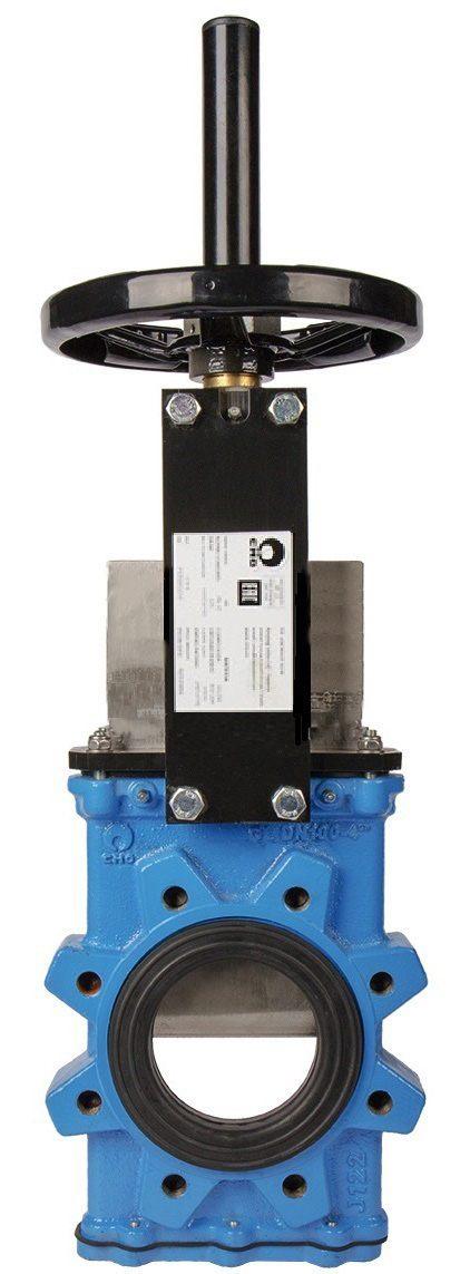 Задвижка шиберная чугунная межфланцевая со штурвалом СМО GL(SP)-012-01-0300-PN10-GsC-HW-NR
