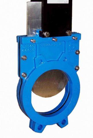 Задвижка шиберная чугунная межфланцевая с ISO-фланцем СМО UB-012-01-0900-PN3-SsM-ISO-E