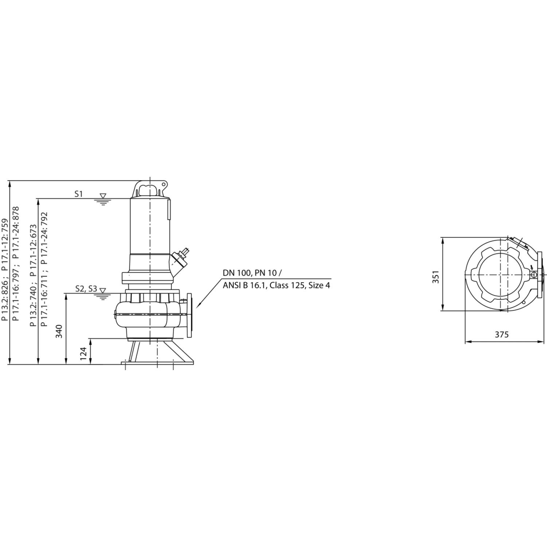 Фекальный насос Wilo Rexa PRO C10DA513/EAD1X4T0015540O