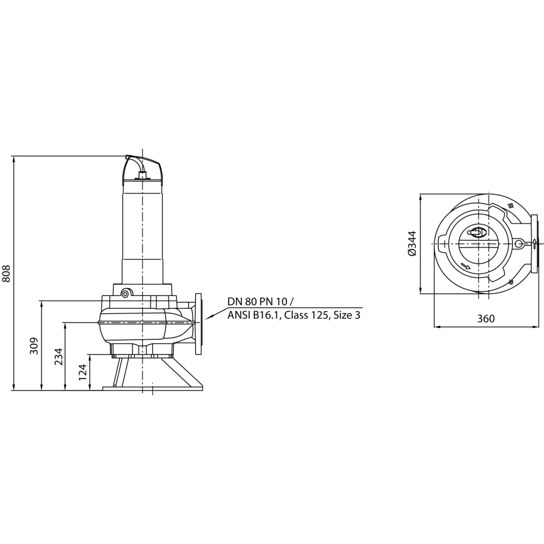 Фекальный насос Wilo Rexa FIT V08DA526/EAD04T0035540O