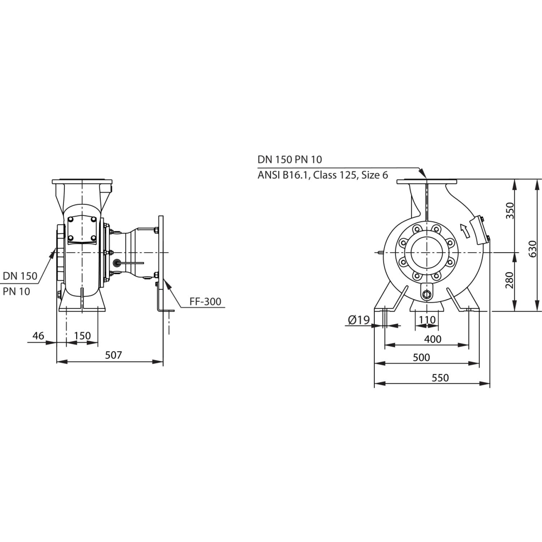 Насос для отвода сточных вод блочной конструкции со встроенным стандартным электродвигателем фекальный насос Wilo RexaBloc RE 15.84D275DAH180L4