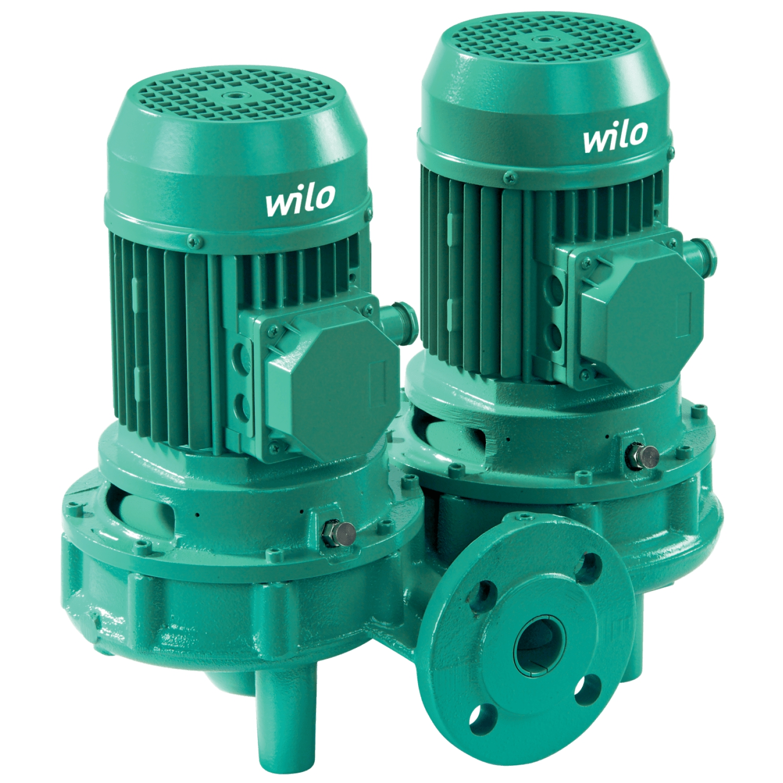 Циркуляционный насос с сухим ротором в исполнении Inline с фланцевым соединением Wilo VeroTwin-DPL 80/120-0,55/4