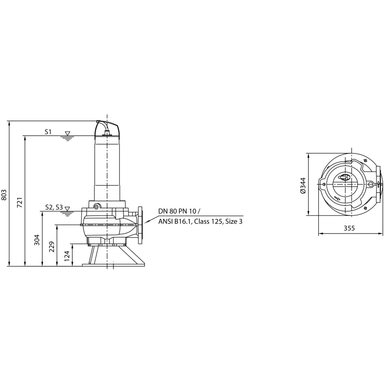 Фекальный насос Wilo Rexa FIT V08DA422/EAD04M0011523P