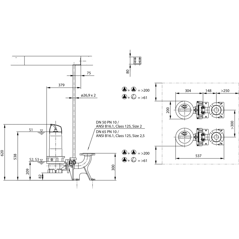 Фекальный насос Wilo Rexa FIT V05DA126/EAD12T0015540A