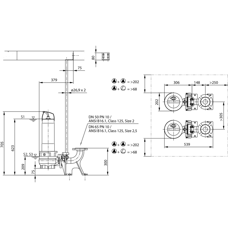 Фекальный насос Wilo Rexa FIT V05DA228/EAD12T0039540O