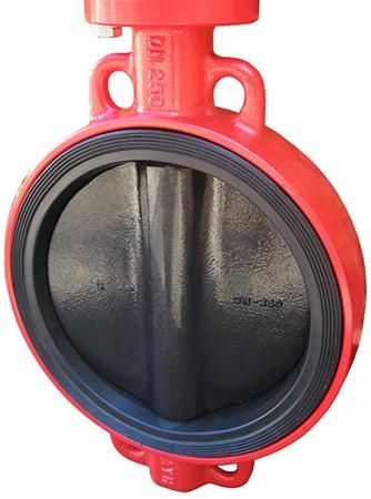 Затвор дисковый поворотный чугунный межфланцевый с ISO-фланцем XUROX 202WE DN50 PN16