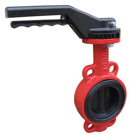 Затвор дисковый поворотный  чугунный межфланцевый XUROX 202WV P DN250 PN16