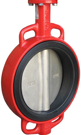 Затвор дисковый поворотный  чугунный межфланцевый с редуктором XUROX 205WE R DN125 PN16