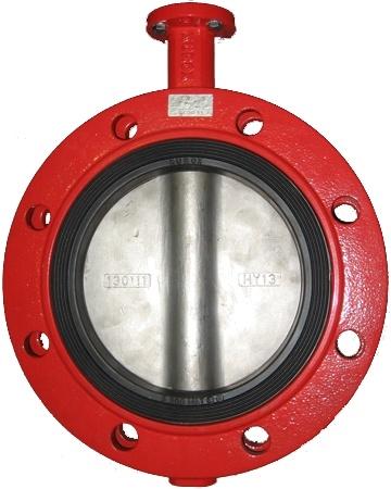 Затвор дисковый поворотный  чугунный фланцевый с редуктором XUROX 205BE R DN400 PN16