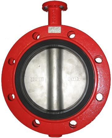 Затвор дисковый поворотный чугунный фланцевый с ISO-фланцем XUROX 205BN DN600 PN16