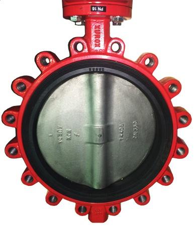 Затвор дисковый поворотный чугунный тип Lug XUROX 205LE P DN40 PN16