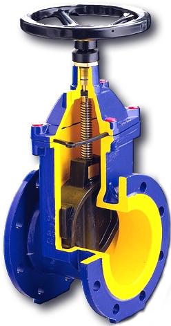 Задвижка с обрезиненным клином чугунная Zetkama 111D-040-C57 DN40 PN16